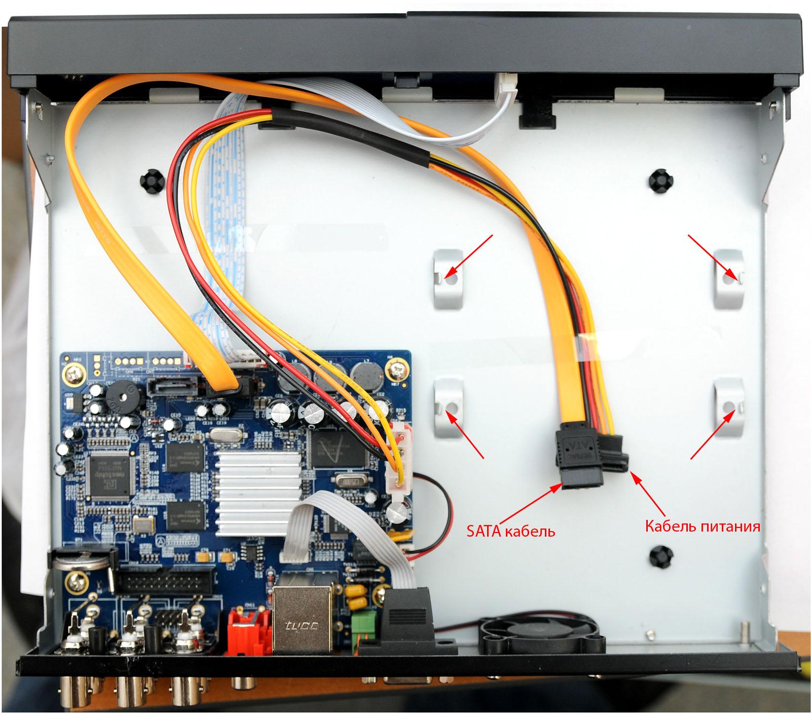 Замена жесткого диска в видеорегистраторе