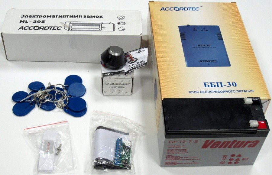 Электромагнитный замок на калитку набор-комплект